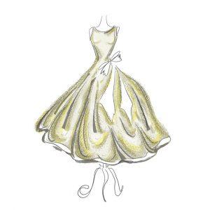 Illustration: Yellow dress