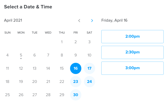 Calendly Scheduling service